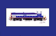 "New York New Jersey Rail SE10B #5101 11""x17"" Matted Print Andy Fletcher signed"