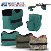 Large Shooting Range Sand Bag Set Rifle Gun Bench Rest Stand Front & Rear Bag