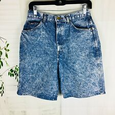 Vintage Chic High Waisted Women's Mom Jean shorts 12 Large Acid Stone Wash