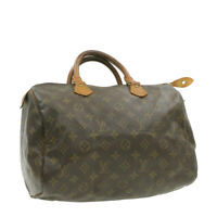 LOUIS VUITTON Monogram Speedy 30 Hand Bag M41526 LV Auth 16919
