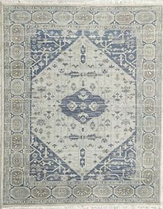 Wool Hand Knotted Area Rug Handmade Abstract Traditional 8'x10' (NO Shedding)