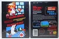 Super Mario Bros / Duck Hunt - Nintendo NES Custom Case - *NO GAME*