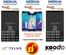 TELUS / KOODO UNLOCK CODE FOR NOKIA PHONE ANY CANADIAN MODEL