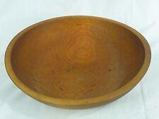 "Vtg Antique Primitive Munising 2nd Wooden Bowl Solid Maple w/ Live Edge Bark 13"""