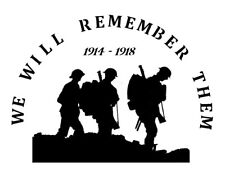 high detail airbrush stencil we will remember them  FREE UK POSTAGE