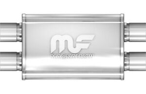MagnaFlow Muffler Stainless Steel 14X4X9 2.5 Dual/Dual