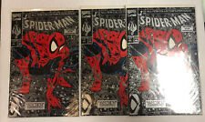3 Copies Of Spider-Man (Silver) # 1 Todd Mcfarlane (NM) Uncirculated Ronalds