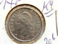 1942 Argentinian Five (5) Centavos Coin
