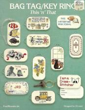 Bag Tags Key Ring Designs for Cross Stitch Fond Memories Booklet for 18 Count