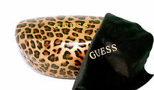 Authentic GUESS New Designer LEOPARD PRINT HARD Sunglasses CASE