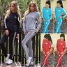 Women's Long Sleeve Tracksuit Ladies Lounge-wear Jogging Sweatshirt Pants Set