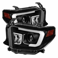 Spyder Toyota Tundra 2014-2016 Projector Headlights - Light Bar DRL - Black