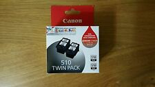 2x Original Canon Genuine ink Cartridges PG510 PG-510 MP240 MP480 MX320 MP250