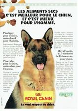 PUBLICITE ADVERTISING 126  1996   Royal Canin aliments secs pour chien