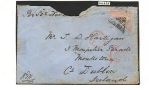 CAPE OF GOOD HOPE-1855-8 6d Rose Lilac UNOFFICALLY ROULETTED ON COVER WITH CERT.