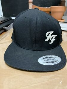 Foo Fighters Hat SnapBack Solid Black Yupoong Cap Good Condition See Pictures