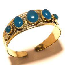Chalcedony Free Postage Tibetan Silver Brass Bangel Cuff Gemstone Jewelry