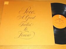 "70s ROCK LP - POCO - EPIC 31601 - ""A GOOD FEELIN' TO KNOW"""