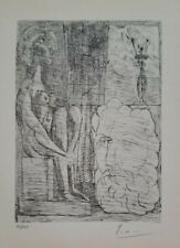PABLO PICASSO 1956 HAND SIGNED PRINT WITH COA AND NUMBERED ..  NO RESERVE !!