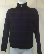 Ralph Lauren In Petite Wool And Angora Sweater Size Petite Purple Plaid