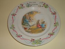 PETER RABBIT FREDERICK WARNER & CO 1993 WEDGWOOD MADE IN ENGLAND BOWL AND DISH