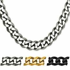 Hombre Collar Cadena de Acero Inoxidable Cadena Pulsera Oro Plata Negro XXL