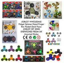 JOBLOT WHOLESALE Fidget Spinner Hand Finger Bar Pocket Desk Focus LOT OF 2000 UK
