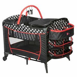 Folding Cot Infant Nursery Center Crib Playpen Playard Portable Travel Bassinet