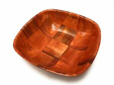 "10"" Wood Square Kitchen Bowl For Serving Salad and Fruits"