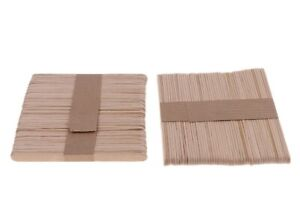 50 x Spatulas Disposable Wooden Waxing Wax Sticks Eyebrows Facial Bikini Waxing