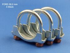 NUOVO m8 x Ø 58 mm STAFFA morsetto Scarico Morsetto Connettore di scarico U Bolt Clamp VW