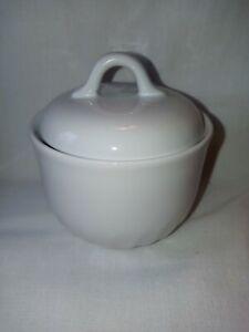 Corelle Coordinates Stoneware White Sugar Bowl with Lid