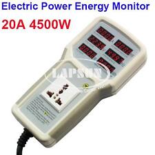 Electric Power Energy Monitor Tester Outlet Socket Watt Meter Analyzer 4500W 20A