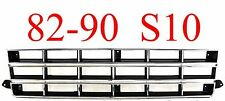 83 90 Chevy S10 Grill, Chrome & Silver, New In Box Part GM1200130
