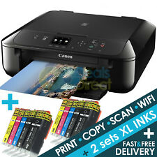CANON MG5750 3-in-1 Wireless Wifi Colour Printer Apple AirPrint + 2 Set XL Inks