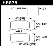 Disc Brake Pad Set-Sport Rear Hawk Perf HB675F.602