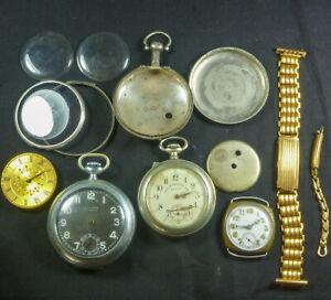 Antique Pocket Watch Parts Sterling Silver Job Lot Case Louis Roskopf 925 Bulk