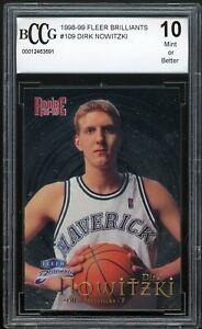 1998-99 Fleeer Brilliants #109 Dirk Nowitzki Rookie Card BGS BCCG 10 Mint+