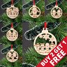 Christmas Bauble Personalised Family Tree Decoration Wooden Gingerbread Xmas