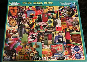 Retro, Retro, Retro (White Mountain, Finest Quality, 1000 Larger Pieces, USA)