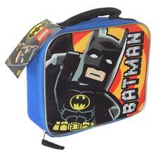 LEGO BATMAN MOVIE DC COMICS Boys Blue BPA-Free Insulated Lunch Tote Box Bag NWT