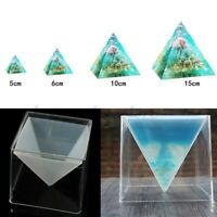 KANGneei Silicone Mold Super Pyramid Silicone Mould Resin Craft Jewelry Crystal Mold with Plastic Frame