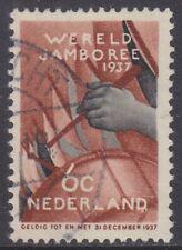 Nederland plaatfout 294PM: 6 ct Wereldjamboree 1937 gebruikt