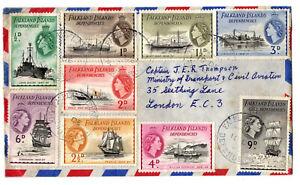 Falkland Dependencies 1956?? Airmail Cover, RRS John Biscoe to Marine Surveyors