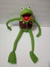 """Vintage Muppets Kermit the Frog Plush Eden Toys Jim Henson's 24"""" Plaid Vest Bow"""