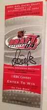 2004 Alexander OVECHKIN NHL Entry Draft Ticket SIGNED 6/26/04 Signature PSA/DNA