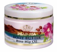 Dead Sea,C&B, Care & Beauty, Body Butter Rose Hip Oil, Vol.10.2fl.oz/300ml