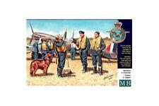 MasterBox MB3206 1/32 Pilots RAF WW II 3 Fig+Dog