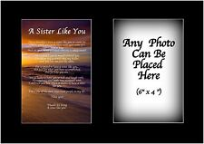 A Sister Like You  Poem Personalised with ANY PHOTO Birthday Christmas Gift