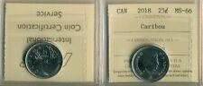 2018 Canada 25 cent Caribou ICCS MS-66